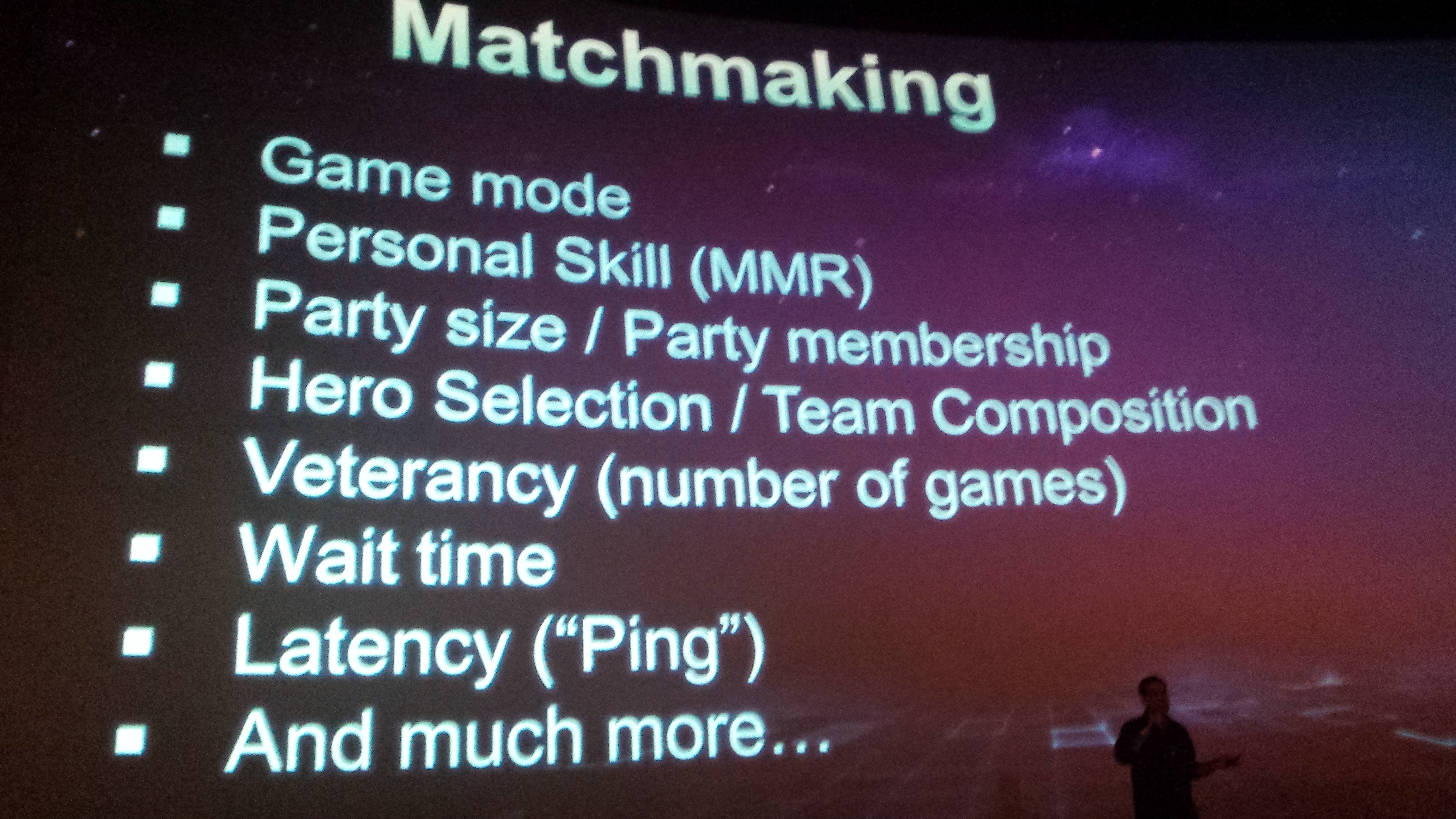 What goes into Matchmaking
