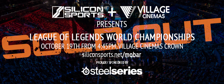 Silicon Sports presents League of Legends Worlds Viewing Party at Village Cinemas Crown